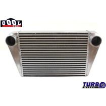 Intercooler TurboWorks 500x350x76 hátsó kivezetéssel